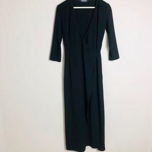 American Apparel Black Wrap Dress